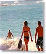 Beach Walkers Metal Print