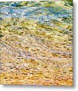 Beach Water Abstract Metal Print