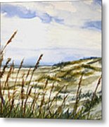 Beach Watercolor 3-19-12 Julianne Felton Metal Print