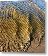 Beach Wave Pattern. Metal Print