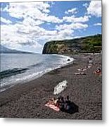 Beach With A View Metal Print