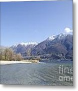 Beach With Mountain Metal Print