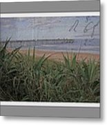 Beach Writing Metal Print
