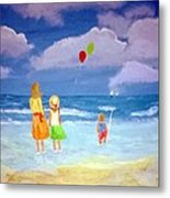 Beachbaloons Metal Print