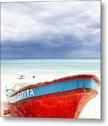 Beached Beyond The Storm - Riviera Maya Metal Print