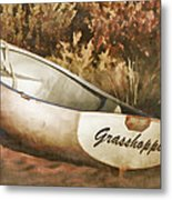 Beached Rowboat Metal Print by Carol Leigh