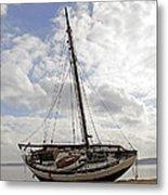 Beached Sailboat Metal Print
