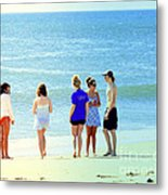 Beaches Of Point Pleasant Nj Metal Print