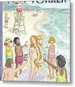 Venus On The Beach Metal Print