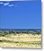 Beachouses As Seen From Jockey's Ridge State Park Metal Print
