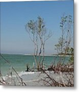 Fort De Soto Beachview Metal Print