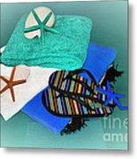 Beachy Things - Aqua Blue Metal Print