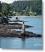 Beacon At Snug Cove Metal Print