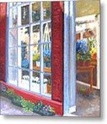 Beacon Hill Flower Shop Metal Print