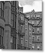 Beacon Hill In Black And White Metal Print