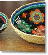 Beaded Indian Baskets Metal Print