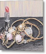 Beads And Bangles Metal Print by Lucy Hayward