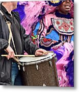 Beads And Feathers At Mardi Gras Metal Print
