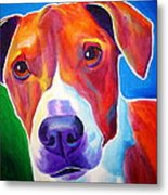 Beagle - Copper Metal Print