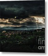 Beams Of Light Over Florence Metal Print