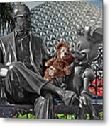 Bear And His Mentors Walt Disney World 04 Metal Print