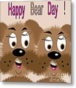 Bear Day Card Metal Print