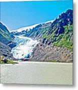 Bear Glacier Near Stewart-british Columbia  Metal Print
