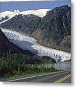 Bear Glacier Metal Print