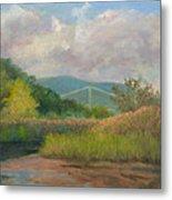 Bear Mountain Bridge From Iona Marsh Metal Print