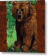 Bear Naked Metal Print