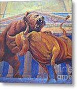 Bear Vs Bull Metal Print