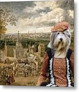 Bearded Collie Art Canvas Print Metal Print