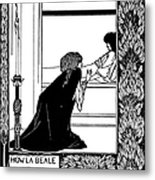 Beardsley: Morte Darthur Metal Print