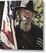 Bearing Old Glory D0256 Metal Print