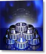 Bearings In Blue Metal Print