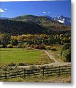 Beatiful Ranch Shot From The Highway Metal Print