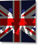 Beatles Abbey Road Flag Metal Print