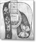 Beatles Guitar Metal Print