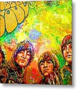 Beatles Rubber Soul Metal Print