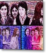 Rainbow Beatles Design Trio Metal Print