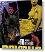 Beauceron Art Canvas Print - Psycho Movie Poster Metal Print