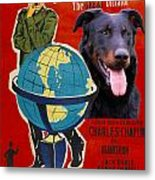 Beauceron Art Canvas Print - The Great Dictator Movie Poster Metal Print