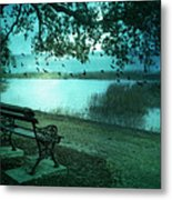 Beaufort South Carolina Surreal Ocean Inland Scene Metal Print by Kathy Fornal