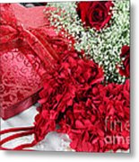 Beauitful Roses And Lingerie Metal Print