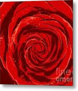 Beautiful Abstract Red Rose Illustration Metal Print