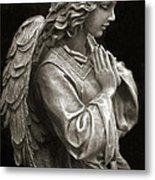 Beautiful Angel Praying Hands Christian Art Print Metal Print