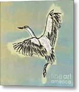 Beautiful Bird Painting Unique Cool Flying Bird Something Blue Sky Best Art For Kids Room Decoration Metal Print