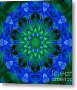 Beautiful Blue Metal Print