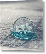 Beautiful Blue Bubble Metal Print