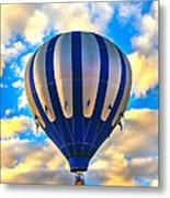 Beautiful Blue Hot Air Balloon Metal Print